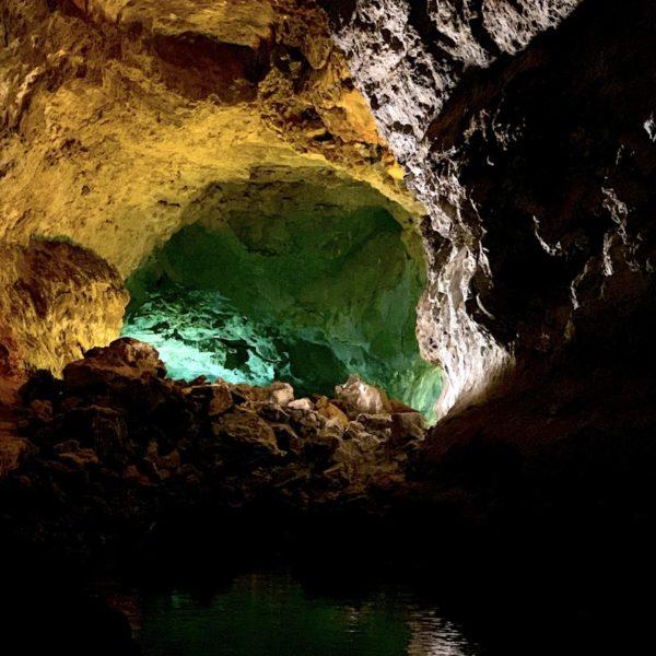 Lavaröhre Lichter Lanzarote