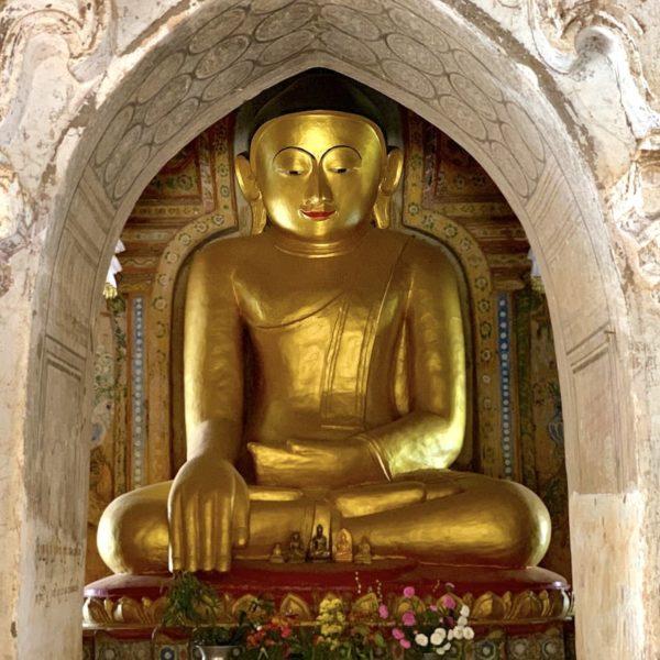 Lemyethna Tempel Buddha Bagan Myanmar