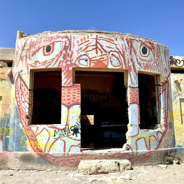 Lepraklinik Abades Ruinen Graffiti