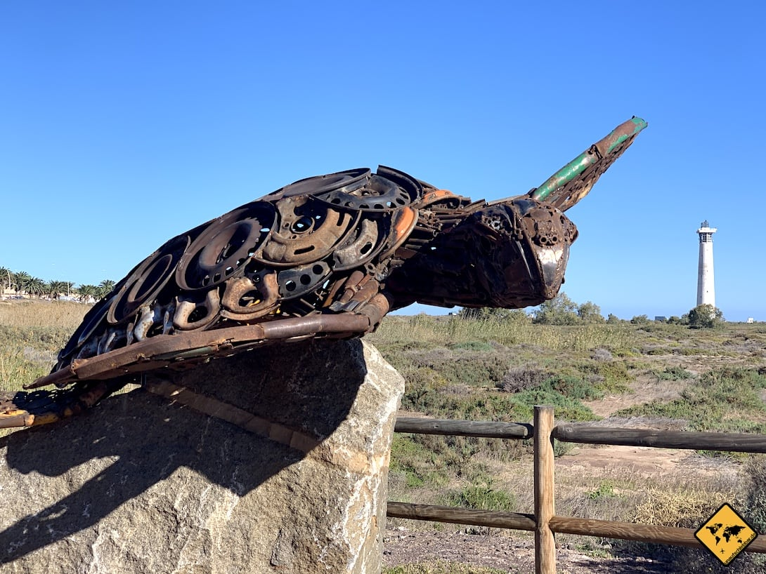 Leuchtturm Schildkröte Skulptur Morro Jable