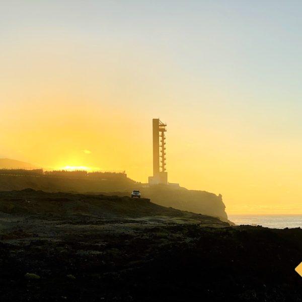 Leuchtturm Sonnenuntergang Buenavista del Norte Teneriffa