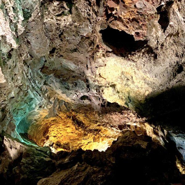 Lichtinstallation Cueva de los Verdes Lanzarote