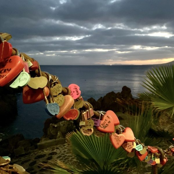 Liebesschlösser Puerto del Carmen Hafen