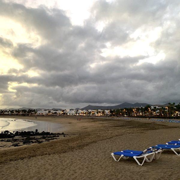 Liegen Strand Abend Puerto del Carmen