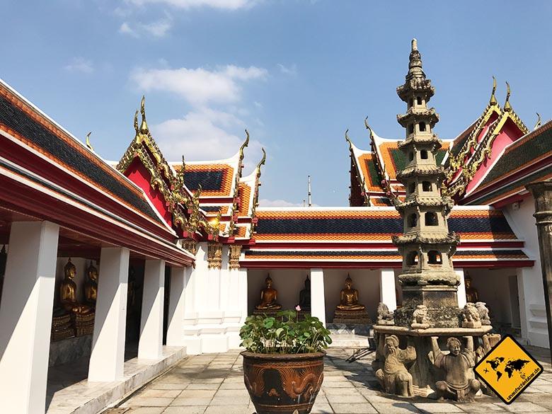 Liegender Buddha Bangkok Gelände
