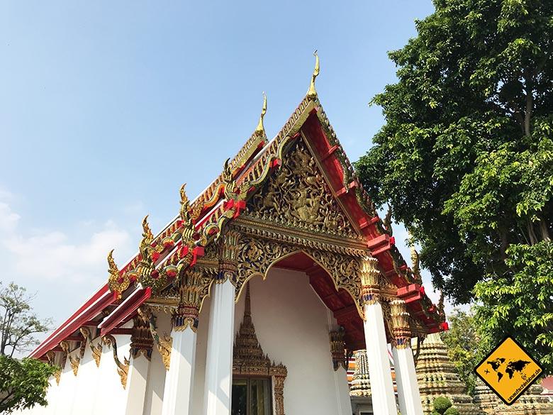 Liegender Buddha Bangkok Tempelgebäude
