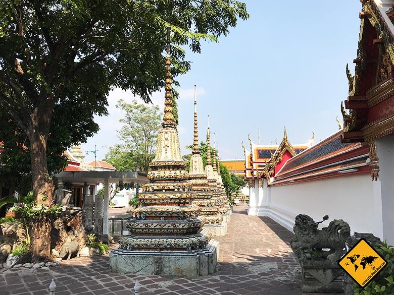 Liegender Buddha Bangkok hinterer Teil