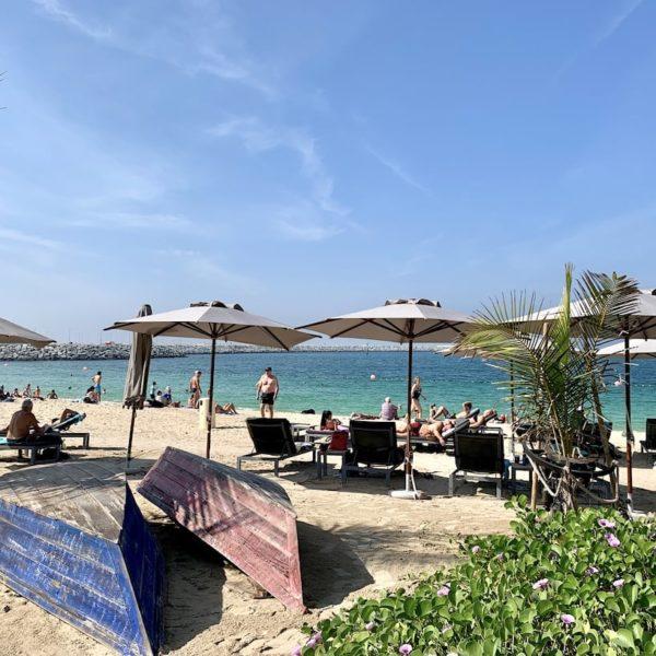 Liegestühle Jumeirah Beach Dubai