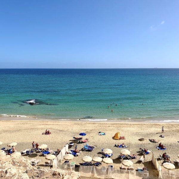 Liegestühle Pájara Beach Costa Calma