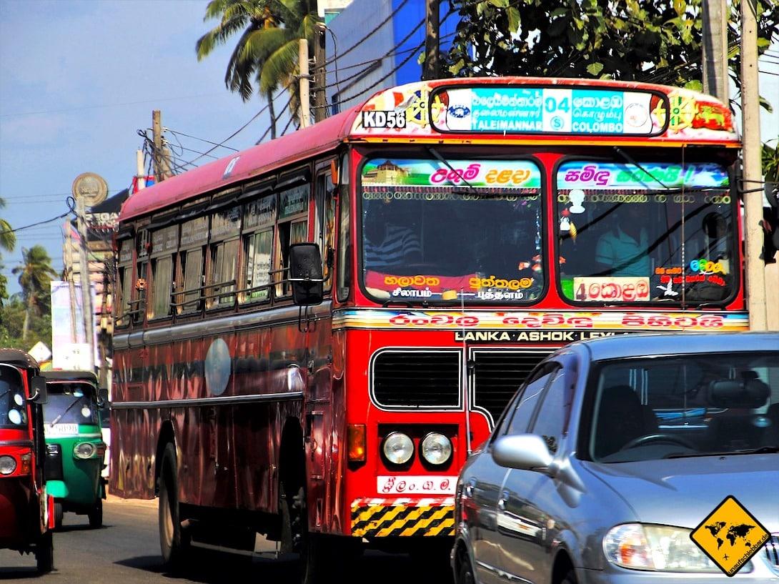 Linien-Bus Sri Lanka