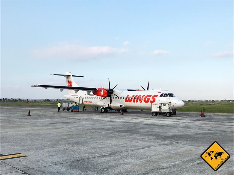 Lombok Flughafen Propellermaschine