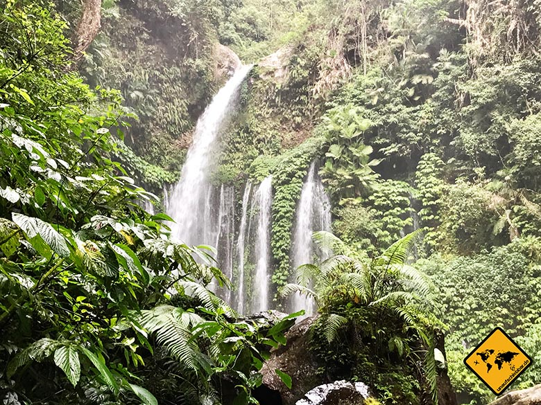Lombok Reisen Wasserfall