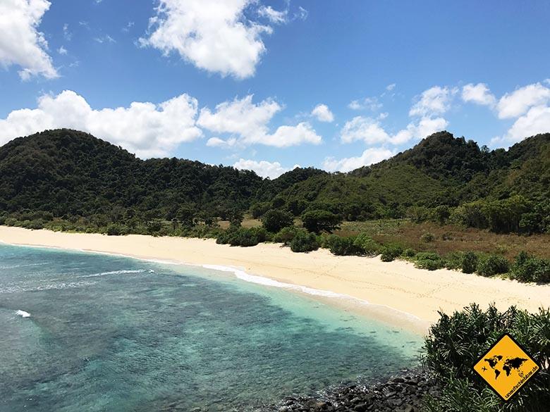 Lombok Strände Mawi Beach Nebenstrand