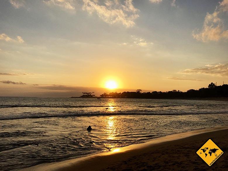 Lombok Strand Senggigi Beach Sonnenuntergang
