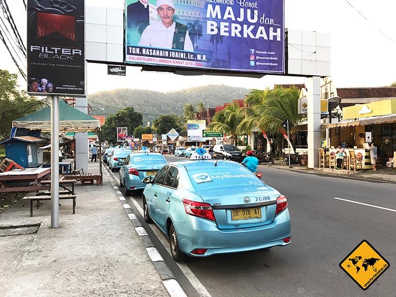 Lombok Urlaub Erfahrungen Blue Bird Taxi