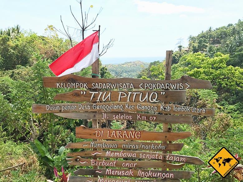 Lombok Wasserfälle Tiu Pituq