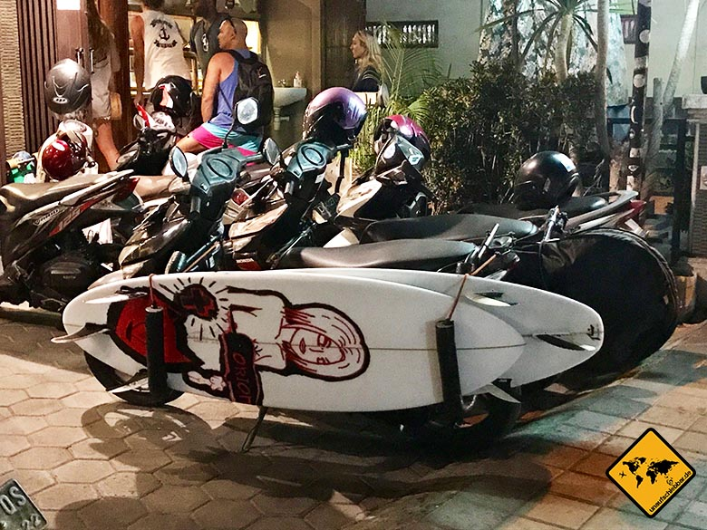 Lombok oder Bali Surfbrett Roller