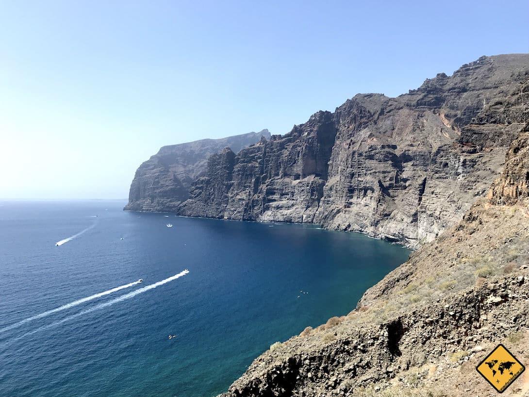 Die eindrucksvolle Steilküste von Los Gigantes Teneriffa