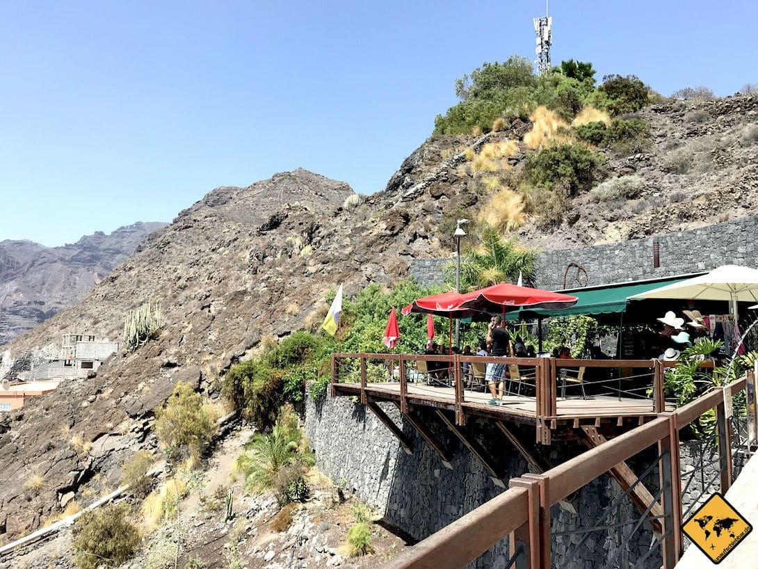 In Los Gigantes findest du viele Restaurants in Hanglage, die eine schöne Aussicht bieten