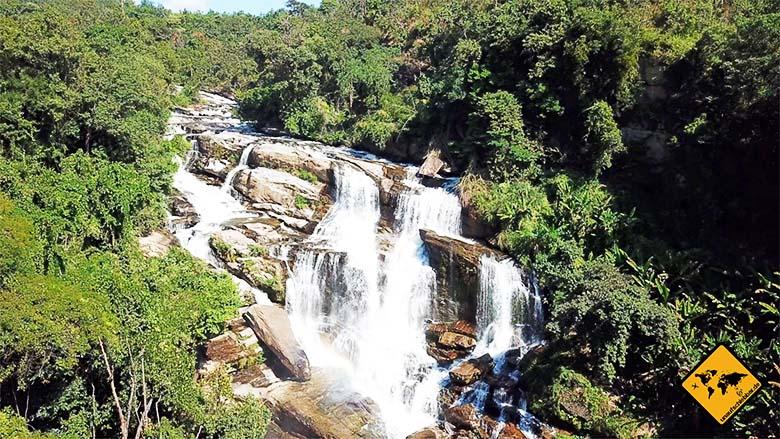 Mae Klang Waterfall Vogelperspektive
