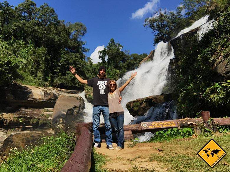 Mae Klang Waterfall einsam