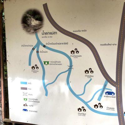 Mae Sa Waterfalls Karte