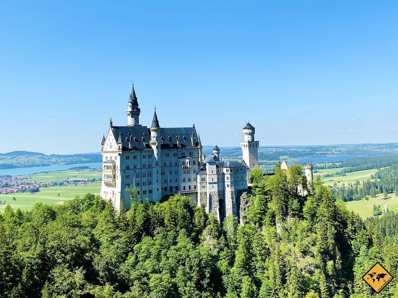 Märchenschloss Neuschwanstein nahe Füssen
