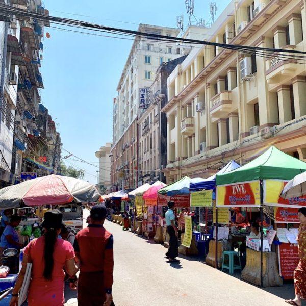 Maha Bandula Park Street Markt Yangon
