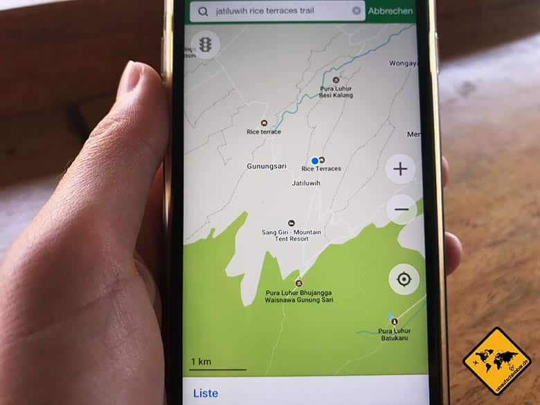 Maps.me Navigation Jatiluwih Bali