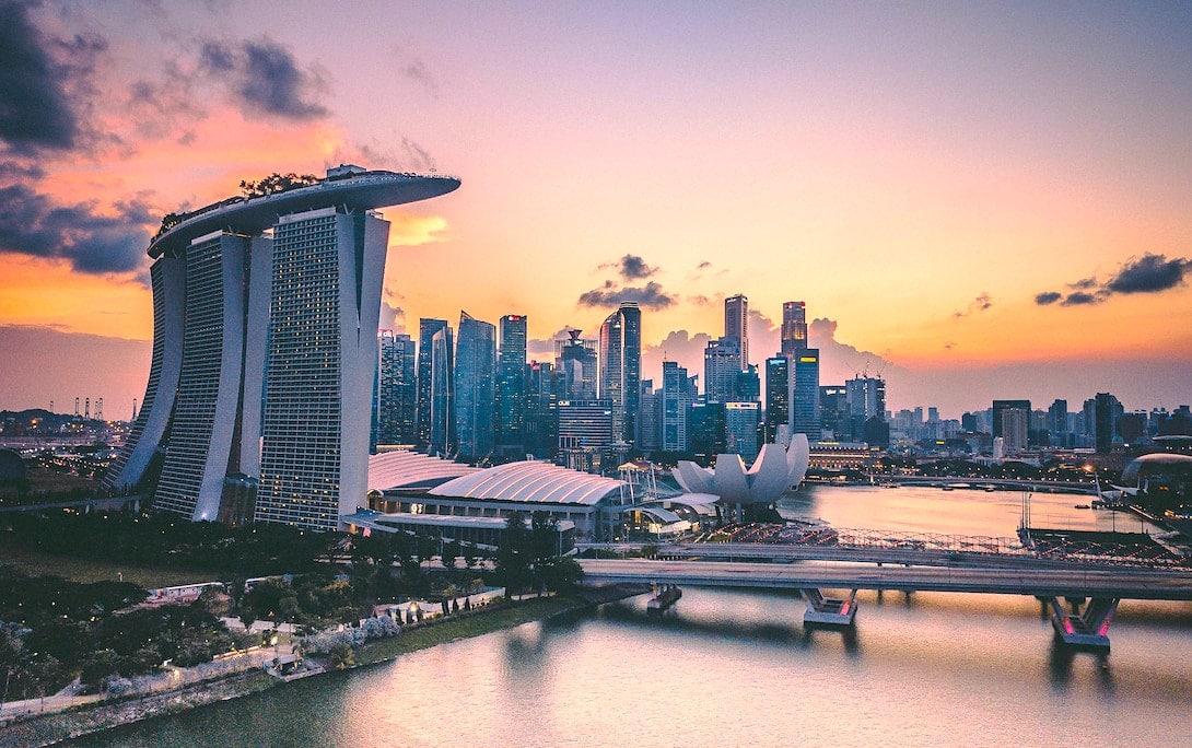 Marina Bay Sands Drohnenaufnahme