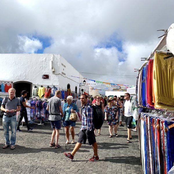 Marktstände Teguise Lanzarote Sonntag