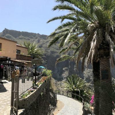 Masca Schlucht Teneriffa: Zu Beginn deiner Wanderung läufst du zunächst an einigen Restaurants und Souvenirläden vorbei