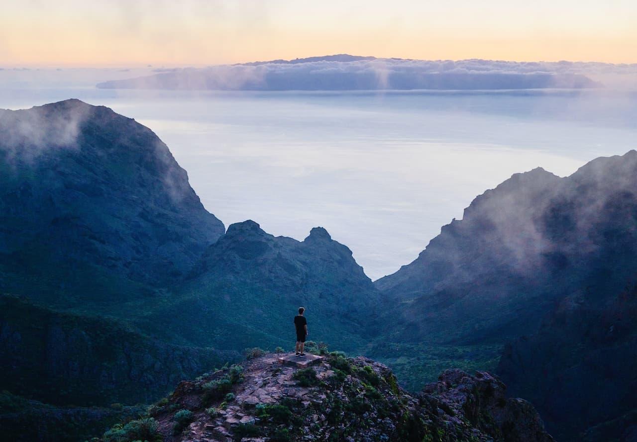 Masca Schlucht Wanderung Teneriffa Ausblick La Gomera