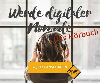Werbenanner Digitaler Nomade werden Frau Medium Rectangle