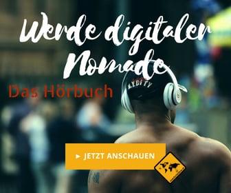 Medium Rectangle Ortsunabhängig Geld verdienen Hörbuch - Werde digitaler Nomade Mann