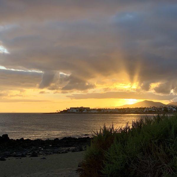Meer Sonnenuntergang Puerto del Carmen Lanzarote