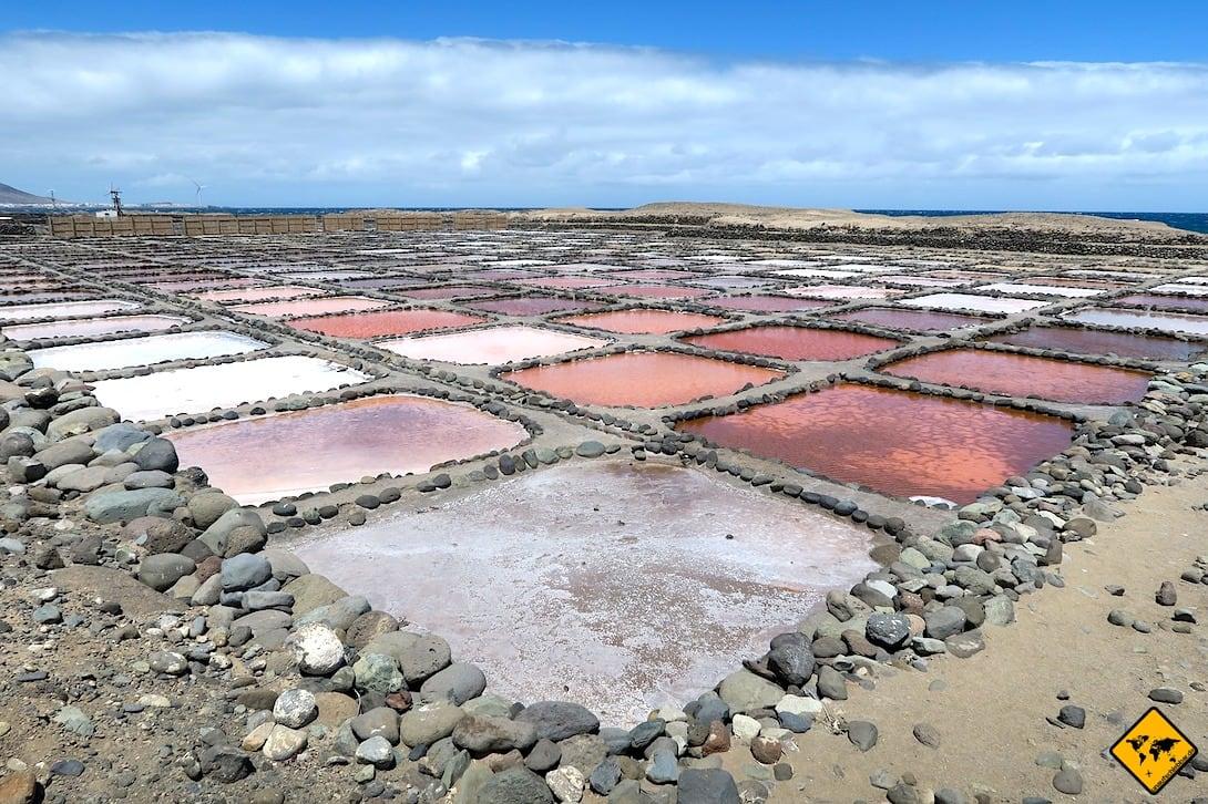 Meersalz Gewinnung Gran Canaria Las Salinas