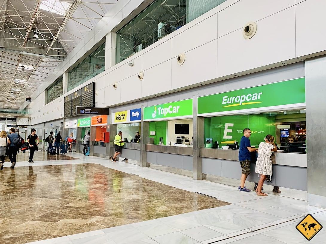 Mietwagen Anbieter Flughafen Teneriffa Süd