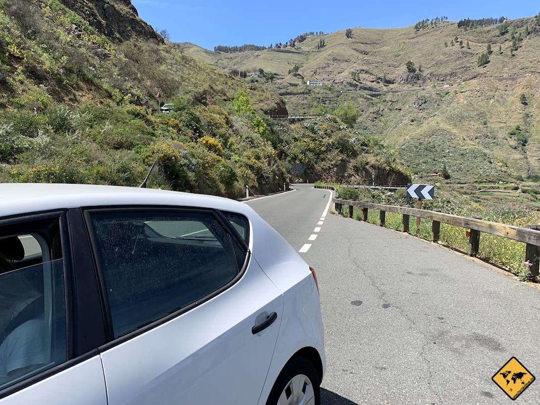Mietwagen Gran Canaria Anfahrt Roque Nublo