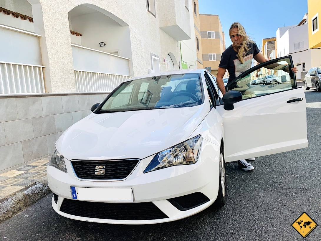 Mietwagen Gran Canaria Auto weiß
