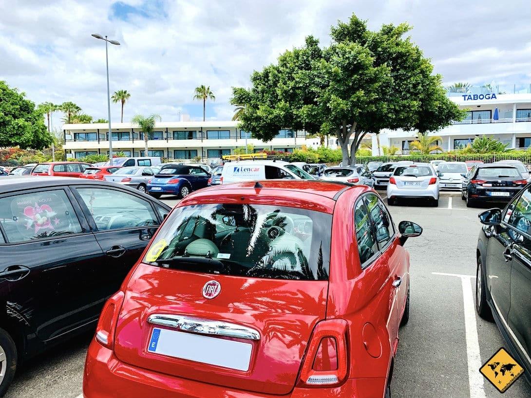 Mietwagen Parkplatz Maspalomas