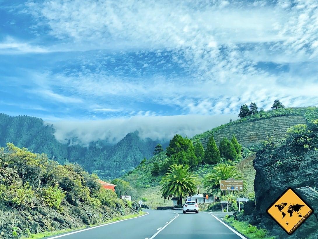 Mietwagen Straße La Palma kanarische Inseln