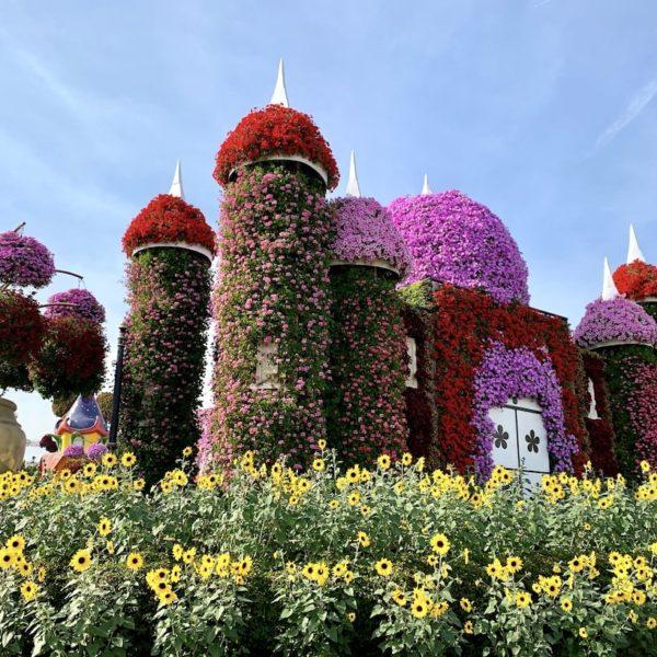 Miracle Garden Dubai Blumen Schloss