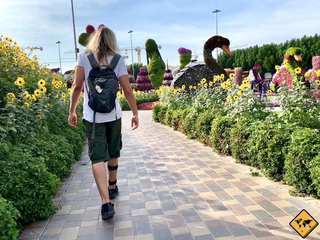 Miracle Garden Dubai Weg ebenerdig