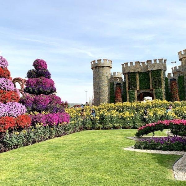 Miracle Garden in Dubai Schloss Blumen