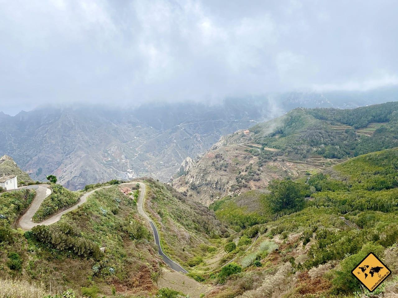Mirador Fuente del Lomo Anaga Gebirge Teneriffa