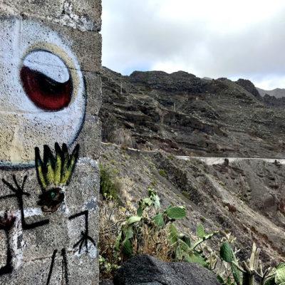 Mirador Las Teresitas Felswand Graffiti