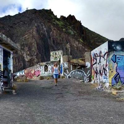 Die Graffitis am Mirador Las Teresitas verleihen dem Ort ein besonderes Ambiente
