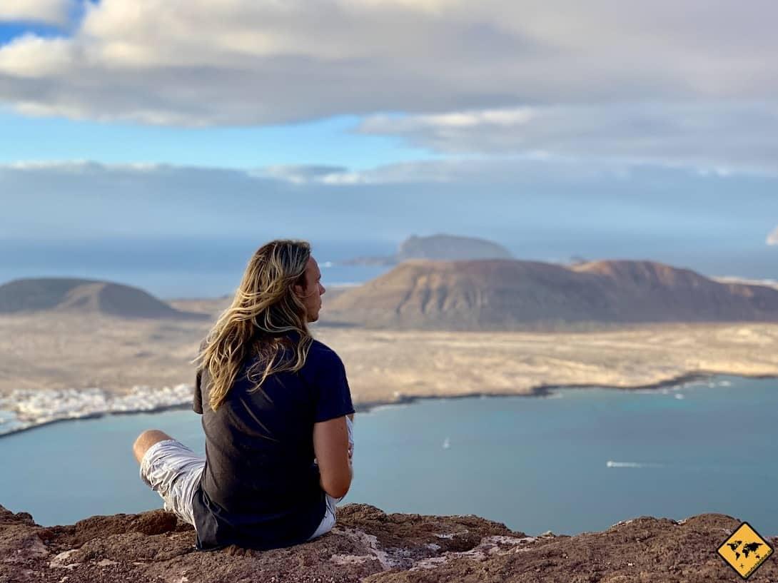 Mirador del Río Lanzarote abends