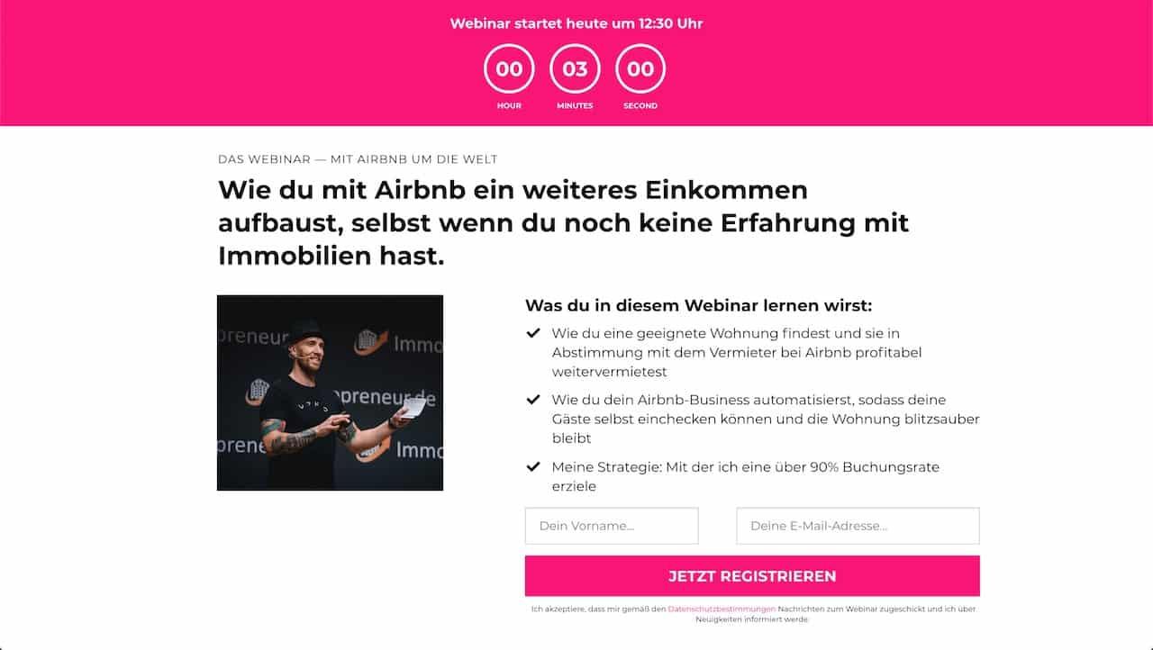 Mit Aribnb um die Welt Webinar zum Kurs Bastian Barami Officeflucht